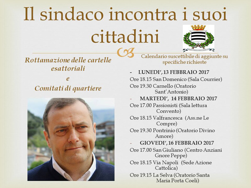 Sindaco incontra